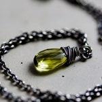 Necklace Lemon Yellow Quartz Silver Pendant