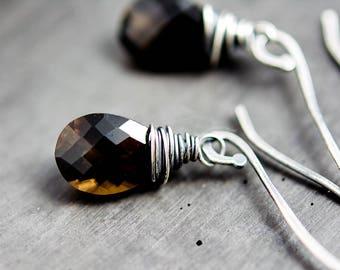 Smokey Quartz, Smokey Quartz Necklace, Gemstone Necklace, Sterling Silver, Brown Gemstone, Chocolate Gemstone, Quartz Jewelry, PoleStar