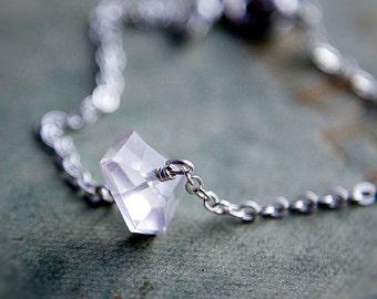 Gemstone Bracelet, Rose Quartz Bracelet, Rose Quartz, Sterling Silver, Wire Wrapped, Modern Bracelet, Feminine Bracelet, Delicate Bracelet