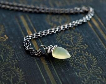 Gemstone Necklace, Opal Necklace, October Birthstone, Birthstone Jewelry, Fire Opal, Sterling Silver, Opal Pendant, PoleStar