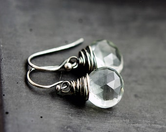 Crystal Earrings, Crystal Jewelry, Crystal Quartz, Quartz Earrings, Drop Earrings, Dangle Earrings, Sterling Silver