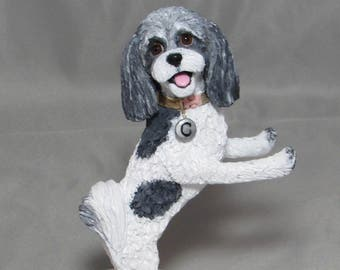 Custom Made Polymer Clay Dog Wedding Cake Topper Sculpture Shih Tzu Poodle  Bride Groom Cat Pet Animals UNIQUE!