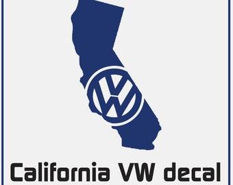 Vw Ohio Decal Volkswagen State Of Ohio Shape Logo Any Etsy