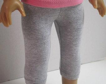 American Girl Doll Crop Leggings in Grey by Crazy For Hue