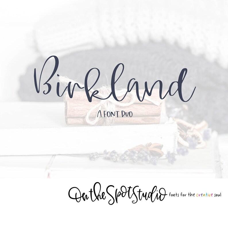 BIRKLAND / font duo / script font / calligraphy font / handlettered font /  OTSS / farmhouse style