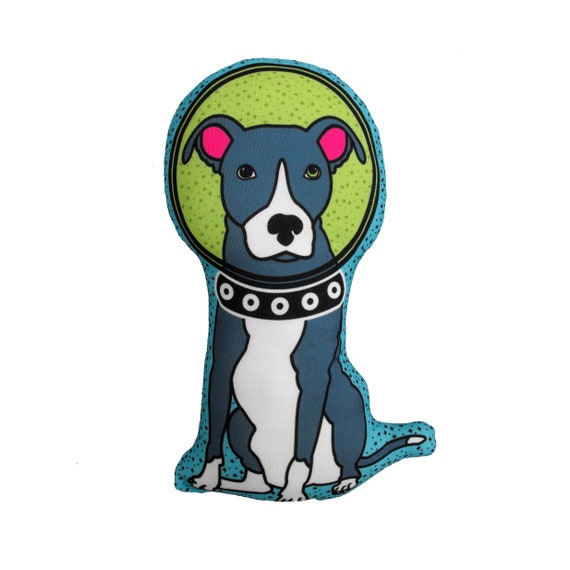Pit Bull In Space Dog Pillow Stuffed Animal Dog Plush Home Etsy