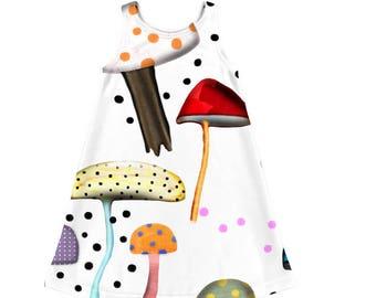 Kids Dress - Octopi or Mushroom