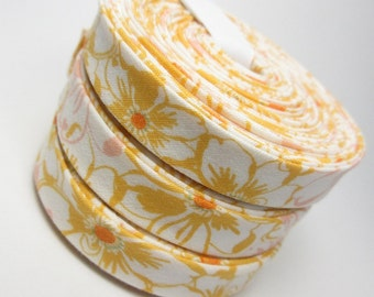 Bias Tape - Double Fold - Bed of Daisies - 3 yards