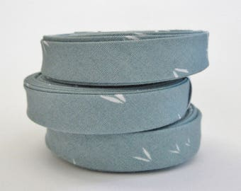 1/2 inch Double Fold Bias Tape - Sacred Seeds in Blue - 3 yards