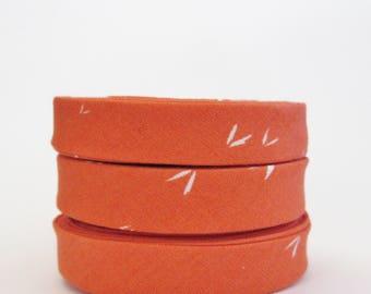 1/2 inch Double Fold Bias Tape - Tigerlily Orange - 3 yards