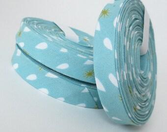 Bias Tape - Organic - Raindrops - 3 Yard Bundle