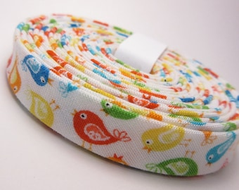 Bias Tape - 1/2 inch Double Fold - Timeless Treasures Birds - 3 yards