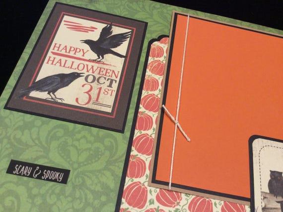 Premade Halloween Scrapbook Pages Halloween Scrapbook Layouts Halloween Layout Halloween Halloween Pages Halloween Scrapbook Pages