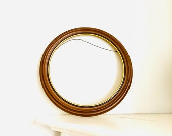 5a5d2a72b9 VINTAGE frame antique gold wood tone round Frame Ornate picture Frame  french style plastic