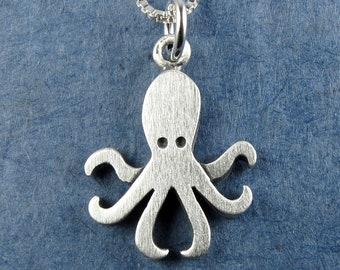 Tiny octopus pendant / necklace