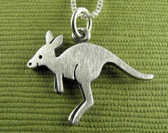 Tiny kangaroo necklace / pendant
