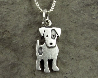 Tiny Jack Russell terrier pendant / necklace