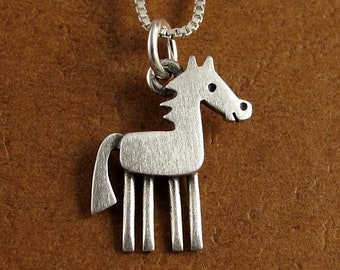 Tiny horse pendant / necklace