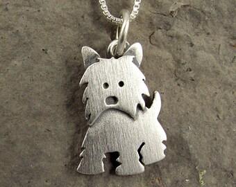 Tiny Westie pendant / necklace