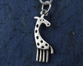 Tiny giraffe pendant / necklace