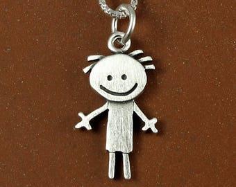 Happy boy pendant / necklace