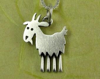Tiny goat pendant / necklace