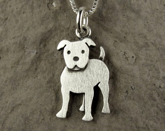 Silver Special Design Obsolescere Pit Bull Necklace