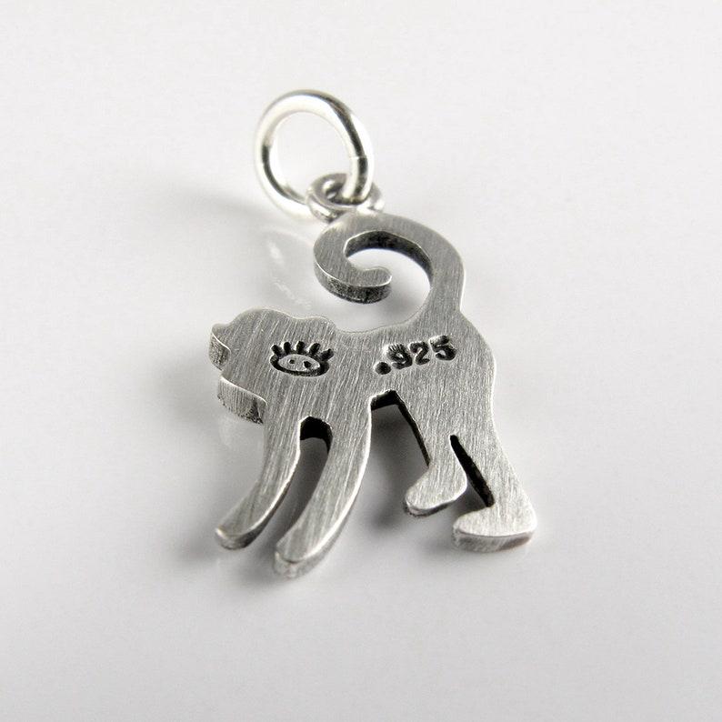 Tiny monkey pendant  necklace