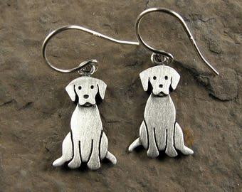 Tiny Labrador retriever earrings