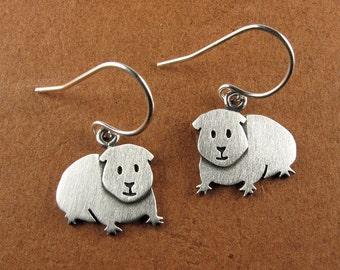 Tiny Guinea pig earrings