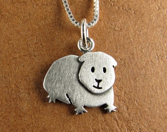 Tiny guinea pig pendant / necklace