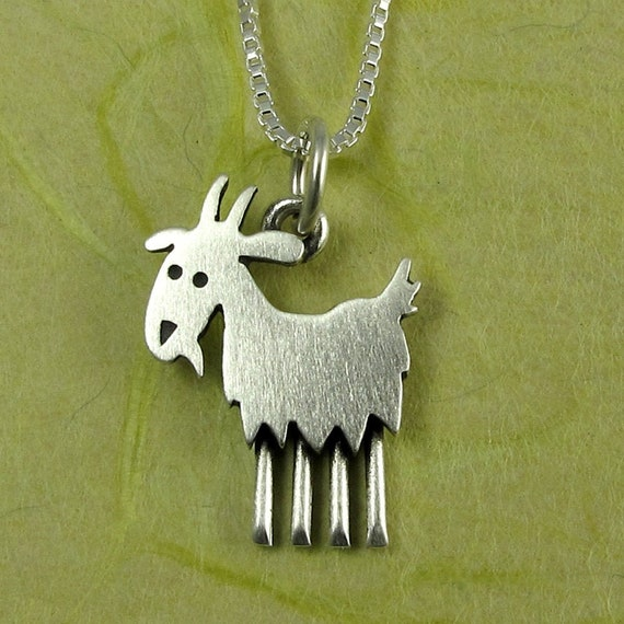 Goat animal Silver Necklace earring,handmade jewelry sets creative Gifts