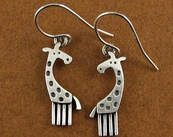 Tiny giraffe earrings