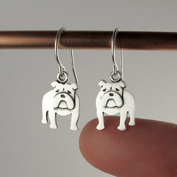 Retro Party Fashion Creative Earrings Bulldog Earrings Antique Animal Earrings