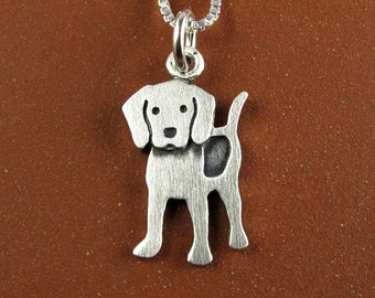 Tiny beagle pendant / necklace
