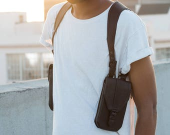 SHADOW HOLSTERS with Soft Black Leather Side Holster Bag