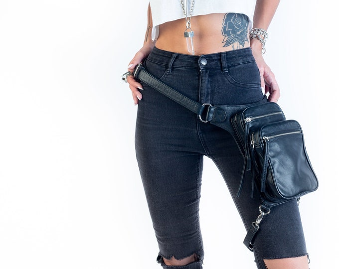 Featured listing image: The Industry Moto Convertible Hip Holster Waist Bag Silver Hardware