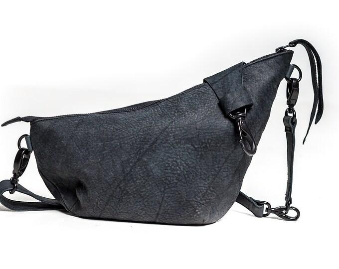 Featured listing image: ELEVATION Black Leather Crossbody Messenger Bag