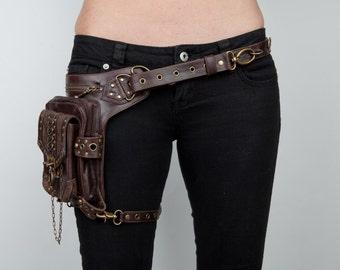 BLASTER 3.0 Brown Leather Holster Shoulder and Hip Bag Fanny Pack