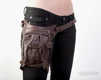 BLASTER 4.0 Brown Leather Convertible Shoulder Bag Waist Holster and Hip Bag