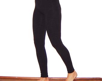 Hemp and Bamboo Leggings Eco Friendly Black for Women and Men Stretch Pants Yoga Organic Natural Fiber