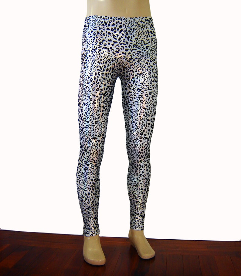 655e98c3 Holographic Animal Print Leggings Leopard Cheetah | Etsy