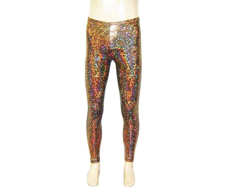 4af2f54909df3 Gold Holographic Leggings Burningman Halloween Festival | Etsy