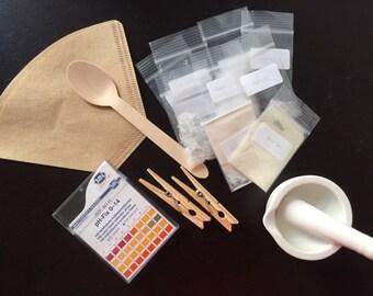 Materiaal pakket voor Lake pigment maken met rode kool