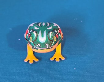 OR Vintage 1990s Embossing Arts Sweet Home Free Shipping Hopping Frog