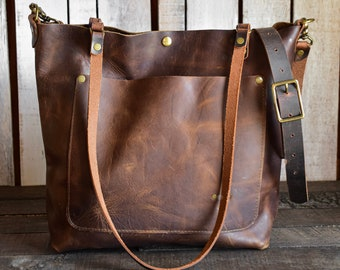 Limited Edition Leather Tote Bag | Leather Bag | Leather Purse Crossbody | Made in USA
