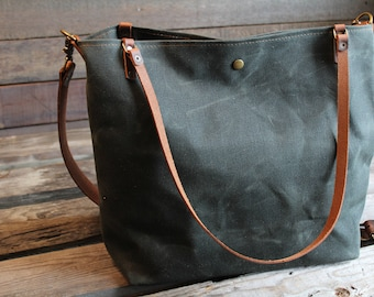 4cb71252510 waxed canvas tote, large canvas tote, crossbody waxed canvas tote, tote bag,  large tote, waxed canvas bag, waxed canvas crossbody bag