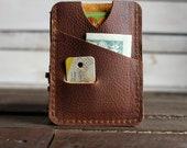 Leather Card Wallet Front Pocket Wallet Card Holder