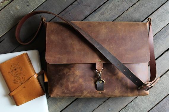 3b544ff71634 leather messenger bag leather laptop bag crossbody messenger