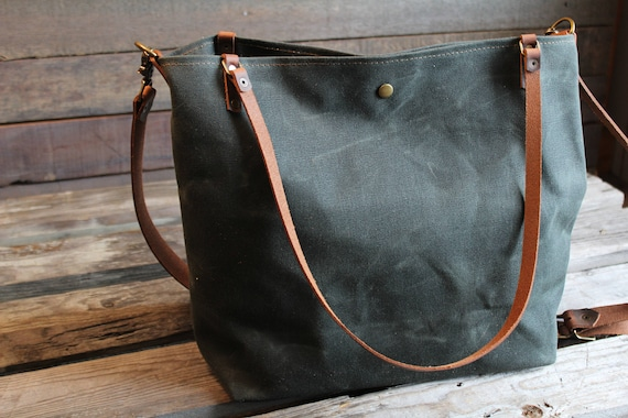 5bd045848d9 waxed canvas tote, large canvas tote, crossbody waxed canvas tote, tote  bag, large tote, waxed canvas bag, waxed canvas crossbody bag